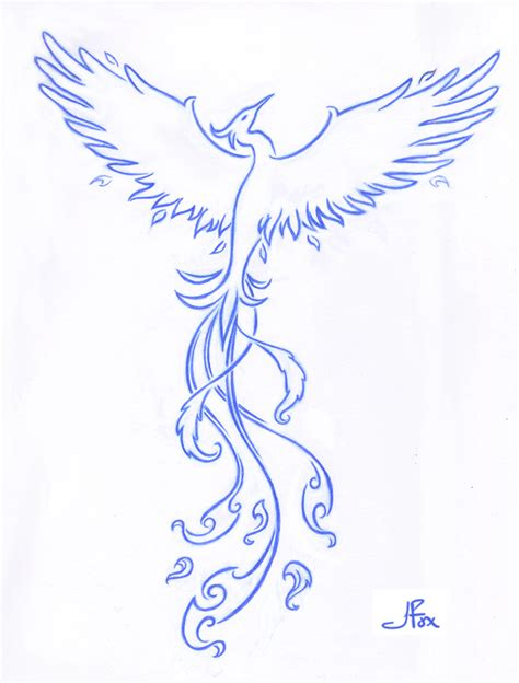 simple phoenix tattoo by jessfox on deviantart