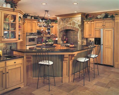 tuscan style kitchen cabinets tuscan style birch kitchen traditional kitchen