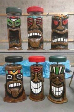 Polynesian Tiki Bar Stools by Polynesian Tiki Bar Stools Tiki Bar Stools Tiki Bars