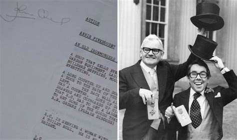 2 Ronnies Sketches by Original Four Candles Script By Two Ronnies Up For Sale