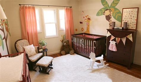 Baroque Little Tikes Rocking Horse In Nursery Contemporary With Coral Bedding Next To
