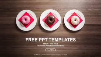 colorful powerpoint templates free colorful donuts on the plate powerpoint templates
