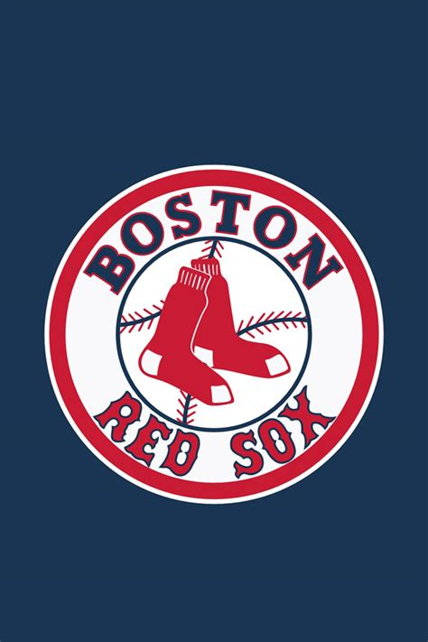 boston red sox logo blue iphone wallpapers hd iphone
