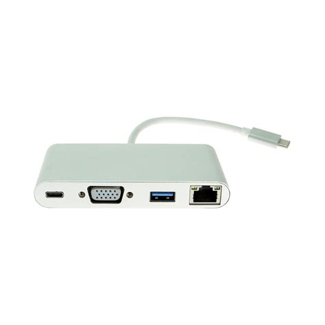 Connector Usb To Vga usb c to vga multi port adapter with gigabit ethernet