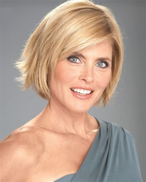 trendy bob hair cuts 45 year old woman kim alexis 51 model for more hairstyles modeled by