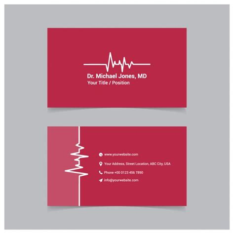 doctor business card template free business card template vector free