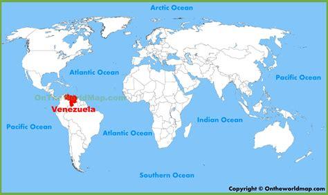 Venezuela On World Map venezuela location on the world map