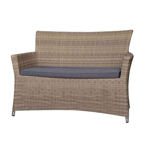 rattan 2 seater sofa wicker loveseats for conservatory or garden areas