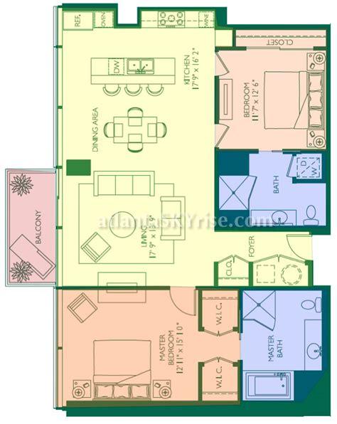 10 terminus place floor plans w residences atlanta downtown unveils new 2 bedroom model