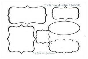 label template for pages free printable stencils to make vinyl chalkboard labels