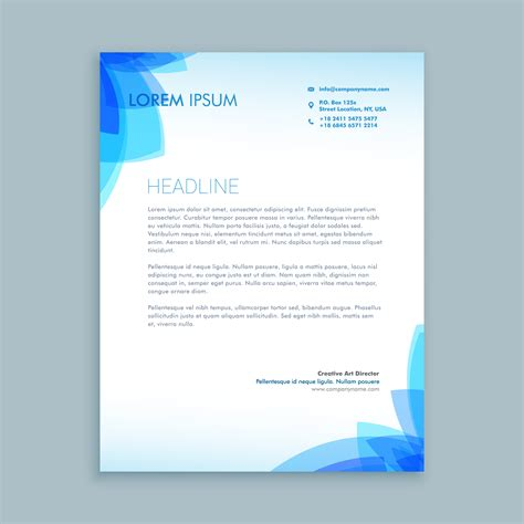 creative business letter template vector design