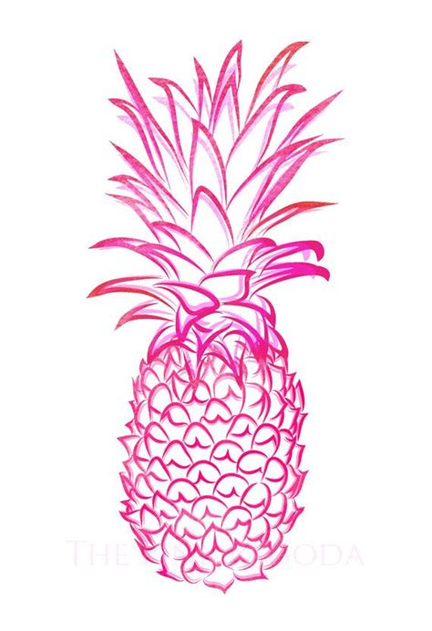 wallpaper pineapple pink pink pineapple giclee 2 spikes how to draw and chinoiserie