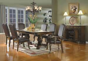 Dining Room Set With Nailhead Trim 7 Dining Set Nailhead Trim Traditional Table Side