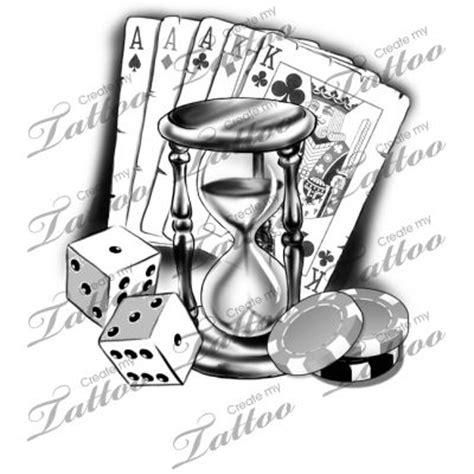10 black and white gambling tattoos