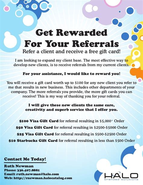 referral rewards card template employee referral program template flyer gift card 1 728