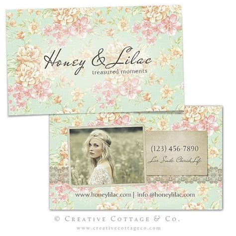 Free Shabby Chic Business Card Templates by Joli Millesime Vintage Floral Business Card Template Psd