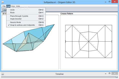 You Can Bisect An Angle Using Paper Folding Constructions - origami editor 3d