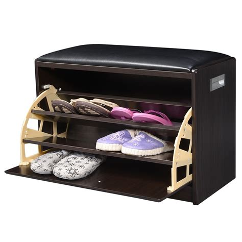 shoe storage with seat or bench convenience boutique shoe storage cabinet bench ottoman pu