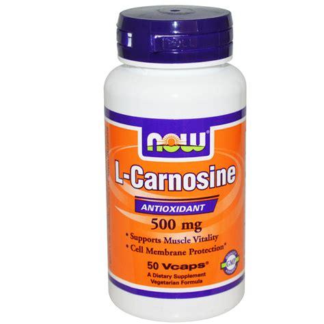 now foods l carnosine 500 mg 50 vcaps iherb