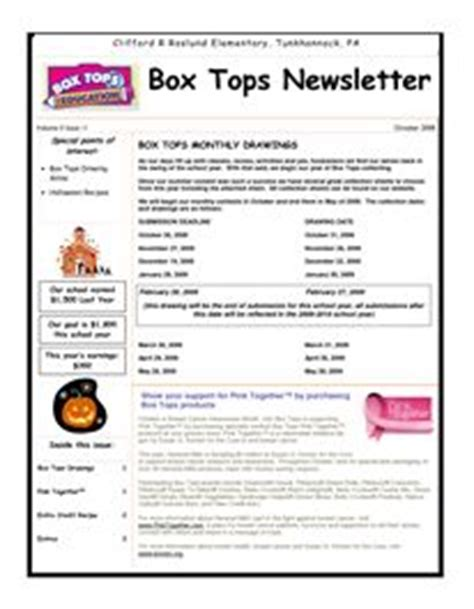 Parent Letter Box Tops 1000 images about pta on box tops education and promotion ideas