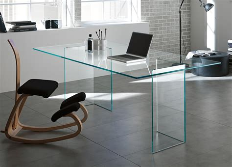 Glass Home Office Desks Tonelli Bacco Glass Desk Glass Desks Home Office