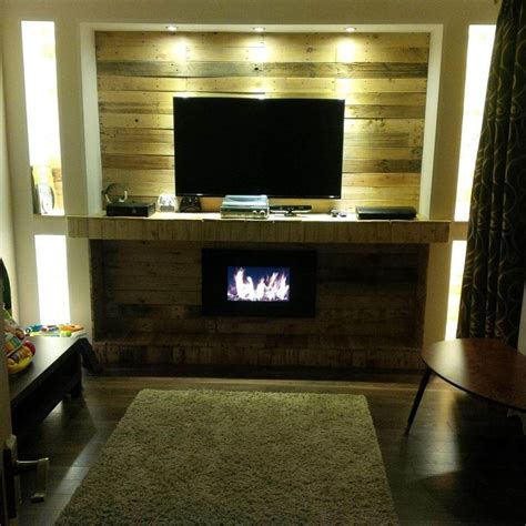 Pallet Wall Fireplace by Pallet Fireplace Fireplaces