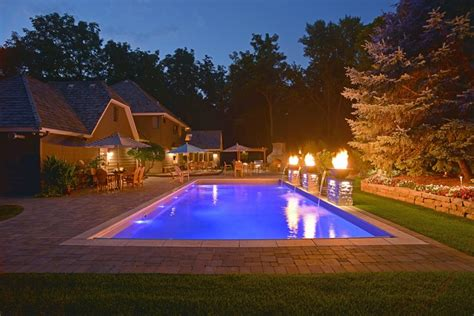 Pool Landscape Lighting Swimming Pool Lighting Ideas Landscaping Network