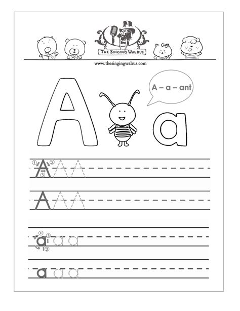 printable alphabet handwriting sheets for kindergarten free printable preschool alphabet handwriting worksheets