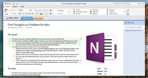 Templates For Onenote Mac   onenote for mac a promising new notes tool that leaves