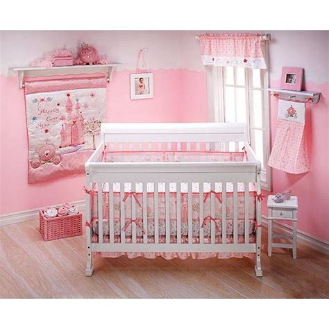Baby Girl Pink 5pc Disney Baby Princess Magic Castle Crib Baby Princess Bedding Sets