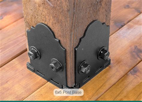 Decorative 4x4 Post Base by In Stock Deck Outdoor Construction Hardware Fasteners