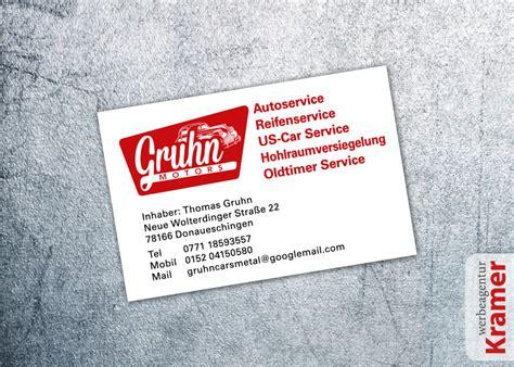 werkstatt werbung visitenkarten und flyer f 252 r auto werkstatt werbeagentur