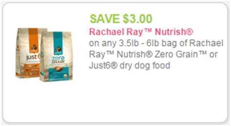 printable rachael ray dog food coupons rachael ray nutrish coupon 6 99 just 6 dog food at