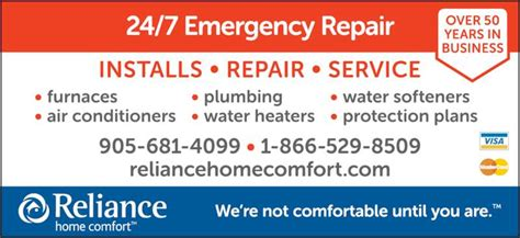 reliance home comfort winnipeg reliance home comfort canpages