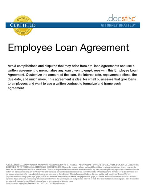 employee loan agreement template 10 best images of personal loan repayment letter template