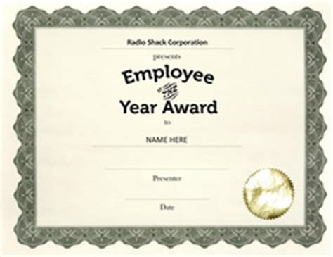 employee of the year certificate template free other free award templates geographics