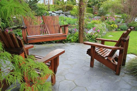 wood patio furniture comparing outdoor furniture materials ritter lumber