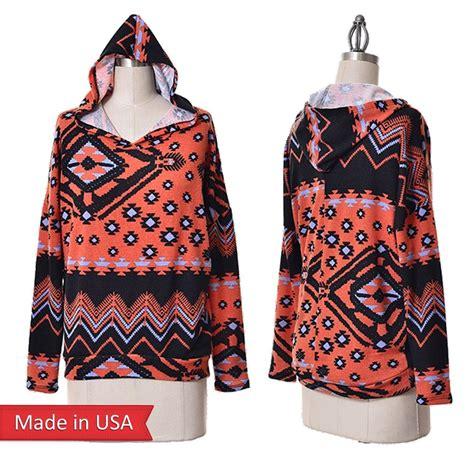 tribal pattern pullover hoodie women aztec tribal print hooded hoodie oversized sweater