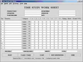 Time Motion Study Excel Template by Pin Time Study Template On