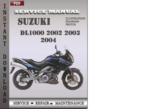 suzuki dl1000 v strom factory service repair manual pdf pdfsr com suzuki dl1000 2002 2003 2004 factory service repair manual download