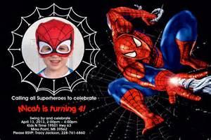 spiderman background invitation