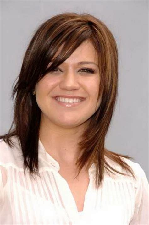 shoulder sweep haircuts women medium length haircuts with side bangs