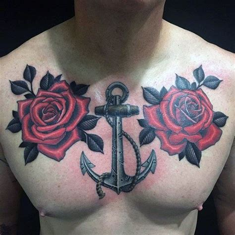 upper chest tattoo designs 40 anchor chest designs for nautical ideas