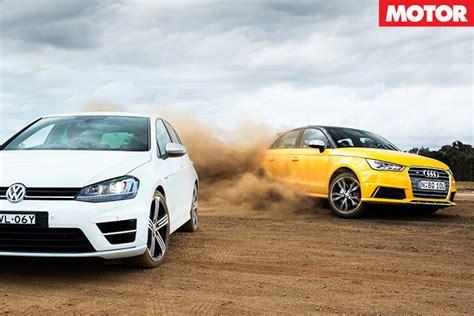 Audi Vs Vw by Audi S1 Vs Volkswagen Golf R