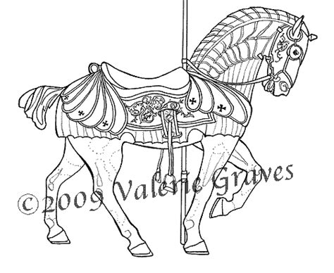 coloring pages of carousel horses carousel kit carson county carousel coloring book