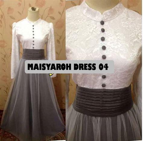Promo Dress Pesta Pernikahan Penerima Tamu Murah baju lebaran dan baju pesta maisyaroh dress 04 bisa dicicil untuk lebaran 2015 made by order