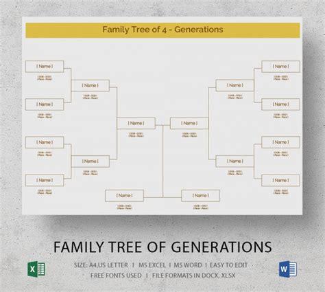 Blank Family Tree Template 32 Free Word Pdf Documents Download Free Premium Templates Family Tree Template Microsoft