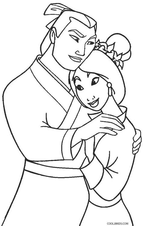 mulan coloring pages disney princess coloring pages