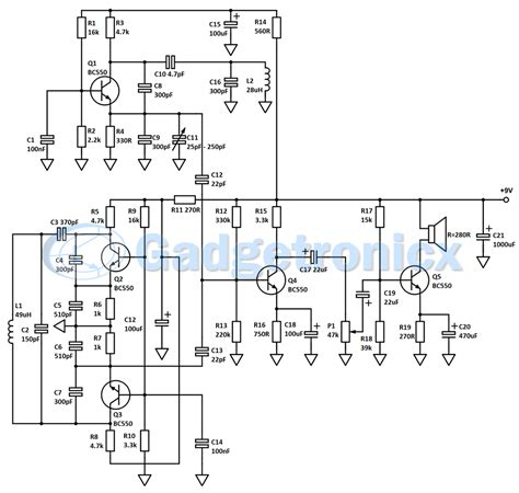 metal detector circuit diagram bfo metal detector circuit diagram circuit and