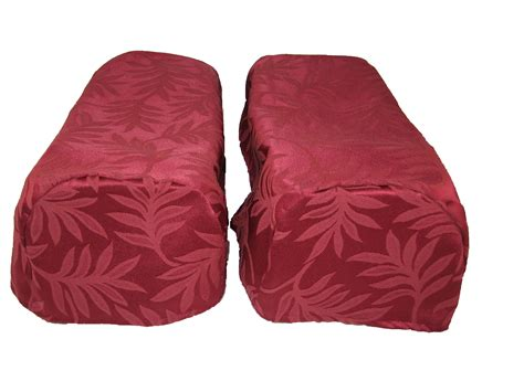 Arm Caps Covers For Chairs And Settees pair of decorative chair settee arm cap covers traditional leaf design burgundy ebay